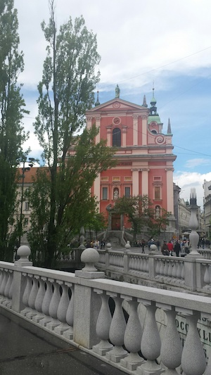 Slovenian pink church